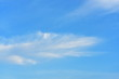 Blue sky and beautiful clouds on a bright day Used as a background image