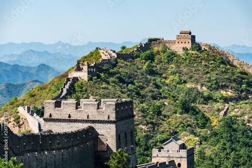 Fotografie, Obraz Great Wall of China between Jinshanling and Simatai