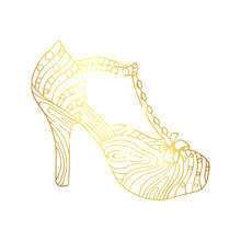 Lady Hogh Heels Or Woman T-str...