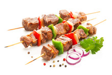 Kebabs - Grilled Meat And Vege...