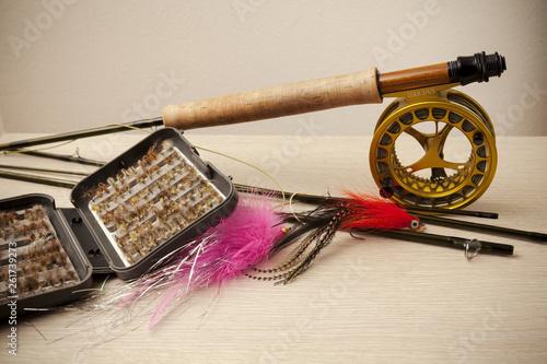 Fotografiet Fly fishing equipment