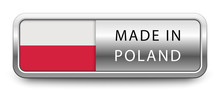 MADE IN POLAND Metallic Badge ...