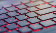 Modern Red Backlit Keyboard, C...