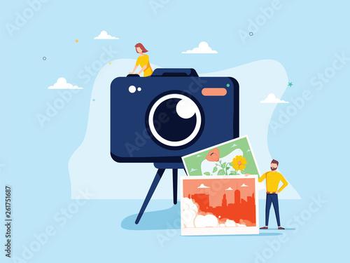 Photographer occupation vector illustration Canvas
