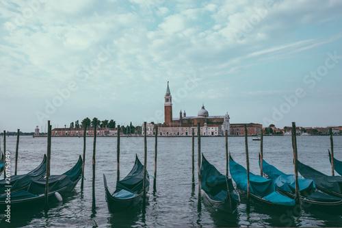 Spoed Foto op Canvas Panoramic view of Laguna Veneta of Venice and San Giorgio Maggiore Island