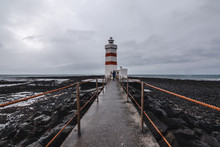 Icelandic Lighthouse On The South Of Reykjavik, Iceland