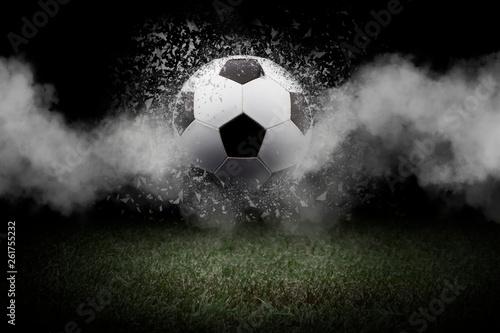 Carta da parati Traditional soccer ball on soccer field