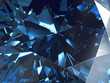 Abstract Blue Diamond Texture Crystal Close-Up Background, 3D rendering