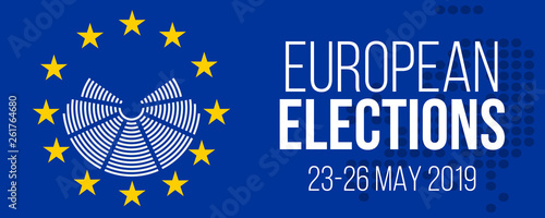 Fotografie, Obraz  european elections 23-26 may 2019 vector poster