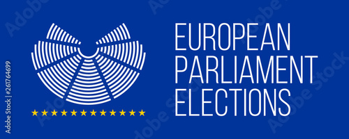 Fotografia  european elections 23-26 may 2019 vector poster