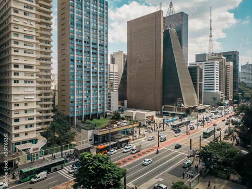 Photo  View of Paulista Avenue in São Paulo, Brazil