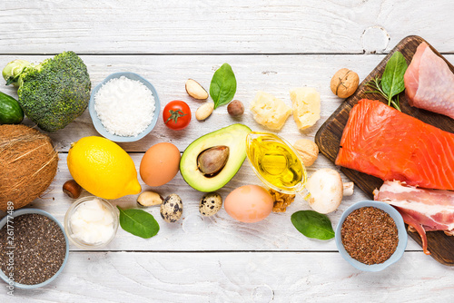 Ketogenic diet food Wallpaper Mural