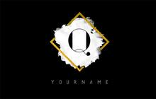 Q Letter Logo Design With Whit...