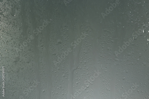 wet glass background condensate / abstract rain, drops texture on transparent gl Fototapet