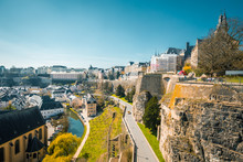 Old Town Of Luxembourg City Wi...