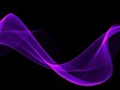 canvas print picture - Abstract purple light waves background