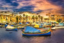 Picturesque Island Of Malta In The Mediterranean Sea
