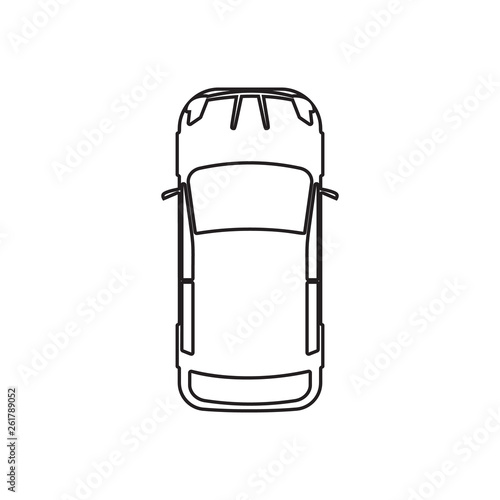 Car Icon Element Of Transport View From Above For Mobile Concept