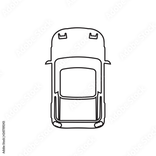 Sports Car Icon Element Of Transport View From Above For Mobile