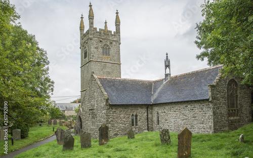 Germoe 14th century Parish Church, Cornwall Canvas Print