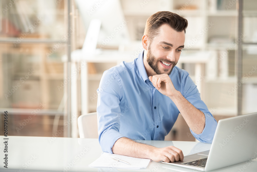 Fototapeta Planning work in front of laptop