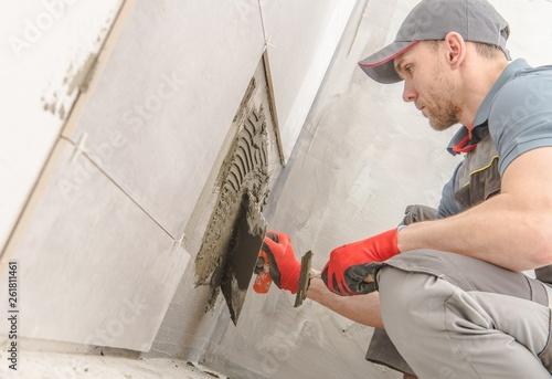 Fotografie, Obraz  Bathroom Ceramic Tiles Installer