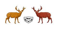 Deers. Double Tones. Handmade.