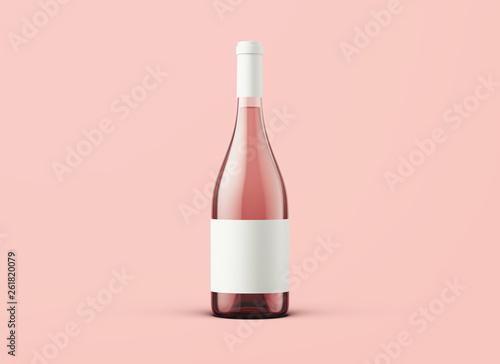 Fotografie, Tablou Wine bottle on background