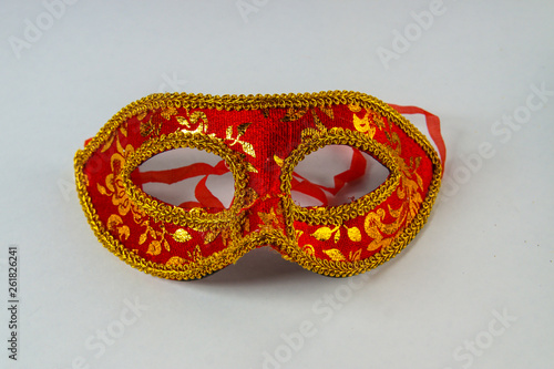 Spoed Foto op Canvas Carnaval venetian mask on white background