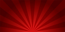 Retro Background. Sunburst Red Colored. Burst Design. Vector