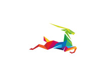 Creative Colorful Gazelle Logo