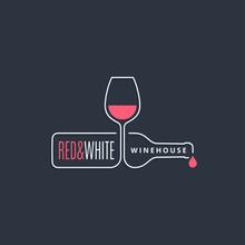 Wine Bottle With Wine Glass Li...
