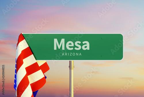Fotografie, Obraz  Mesa - Arizona Road or Town Sign