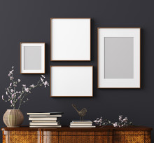 Mock Up Poster Frame In Home I...