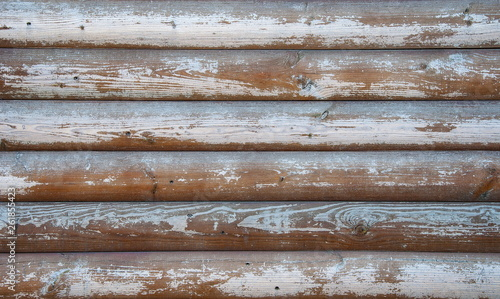 Obraz Wall texture background of old boards with shabby and cracked paint. Retro wooden planks. - fototapety do salonu