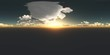 clouds timelapse at sunset in virtual reality 360 degree video