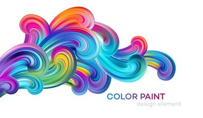 Modern colorful flow poster. Wave Liquid shape color paint. Art design for your design project. Vector illustration