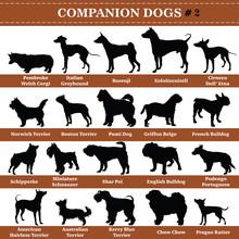 Vector Companion Dogs Silhouettes 2