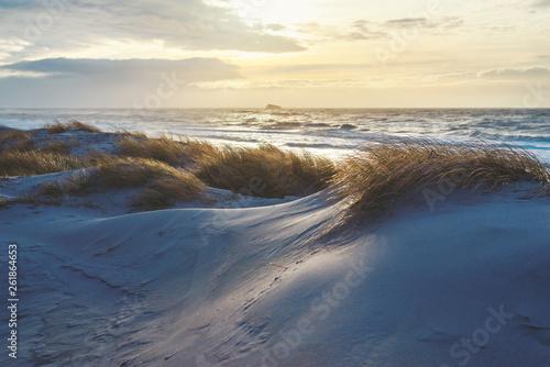 Foto op Aluminium Zee zonsondergang Sonnenuntergang an der dänischen Nordseeküste