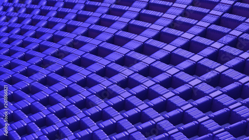 Fotografía  Abstract blue 3D geometric background