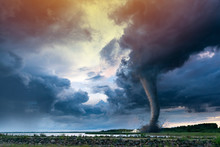 Tornado Forming Destruction Ov...