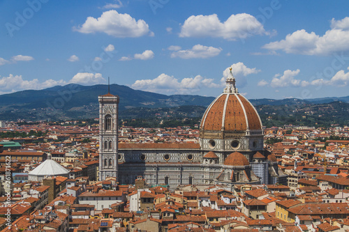 Fotografie, Obraz  Florence Cathedral and the city of Florence, Italy