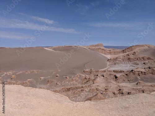 Dark Dunes in Atacama Desert Chile