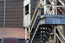 Old Industrial Stairs, Vents, ...