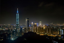 Taipei 101 Tower At Night, Taiwan