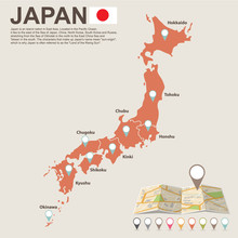 Japan Map - Vector