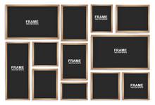 Blackboards On  White Background. Vector Illustration.