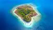 canvas print picture - Gili Rengit island with aquamarine water