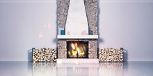 3d Model Of A Fireplace Made O...
