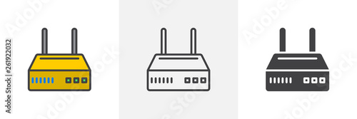 Photo Internet router icon